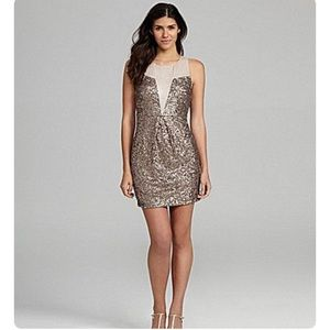 Chelsea & Violet Sleeveless Bronze Sequin Dress